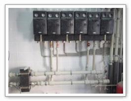 Два колектора на 3(5) выходов и гидравлическая стрелка до 125 кВт с обязкой полипропиленом
