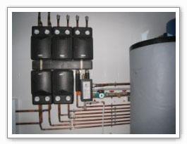 Колекктор для снабжения теплом  4 отдельностоящих домов и теплого пола