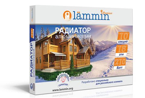 Алюминиевый радиатор Lammin®  Premium AL-500 шириной секции 100 мм. Описание, назначение, технические характеристики и цены на продукцию.