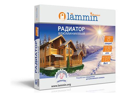 Алюминиевый радиатор Lammin® Premium AL-500 с высотой секции 500 мм.