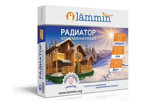 Алюминиевый радиатор Lammin® Premium AL-350 с высотой секции 350 мм.