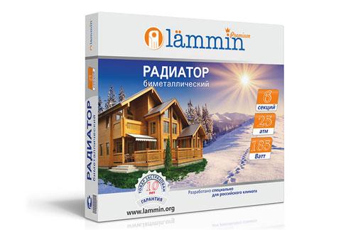 Радиатор биметаллический Lammin® Premium BM-500 с высотой секции 500 мм.
