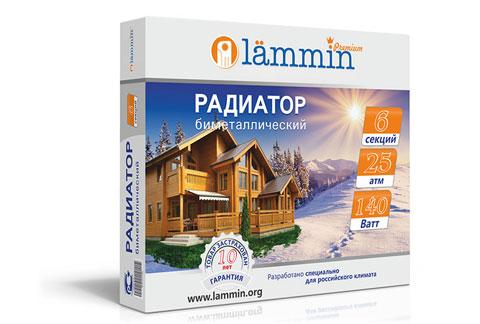 Радиатор биметаллический Lammin® BM-350 с высотой секции 350 мм.