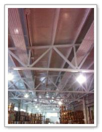 Потолочное отопление на складе